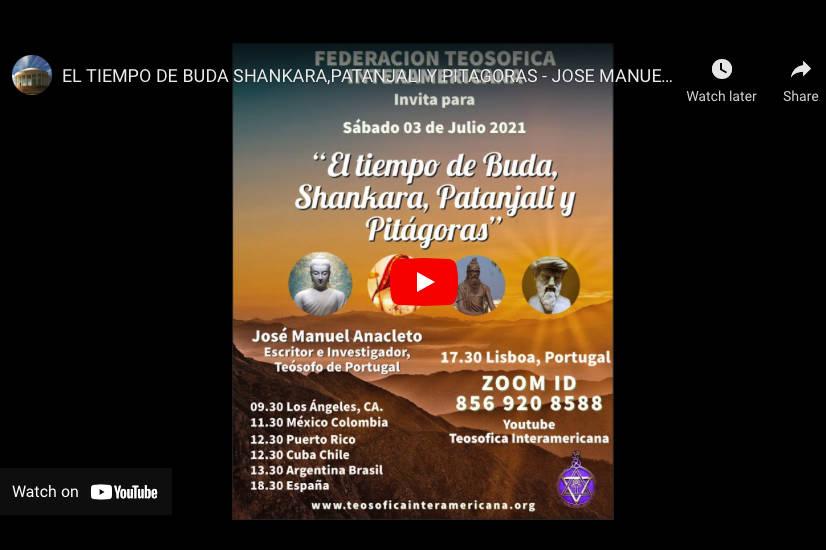 El Tiempo de Buda Shankara, Patanjali y Pitagoras